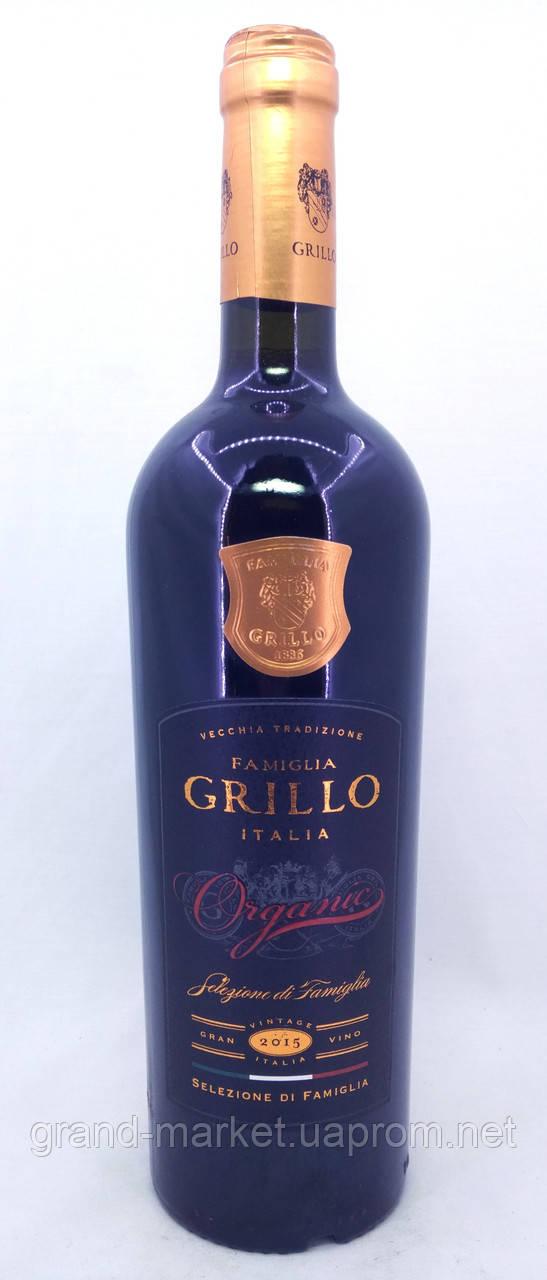 """Вино червоне """"Grillo Selezione di Famiglia 1886 Organic Rosso"""" 0.75 l"""