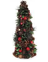 Елка декоративная из шишек и ягод 48 см (2шт в упаковке)