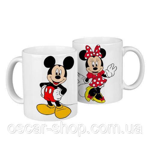 Чашки парні Міккі / чашки на подарунок / набір чашок 330 мл
