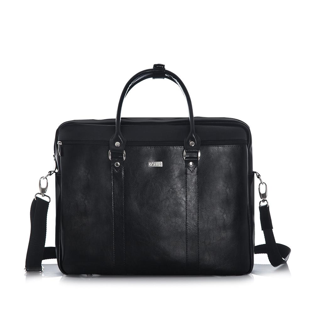 """Кожаная сумка для ноутбука 17"""" и документов"""