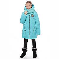 Зимняя куртка  с хомутом для девочки 2018-2019