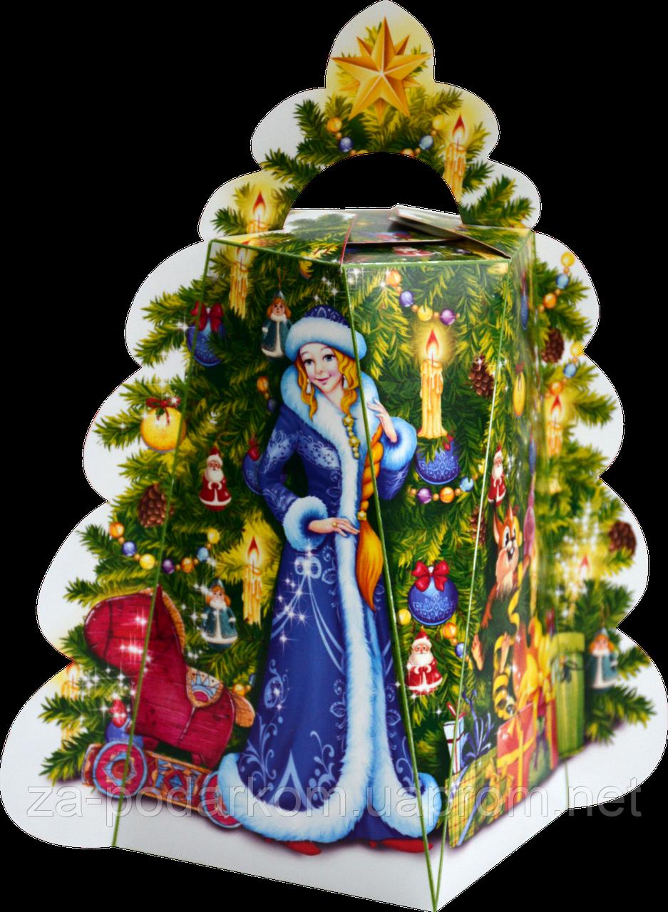 Новогодняя Упаковка ЯЛИНКА Нова для подарков до 450г