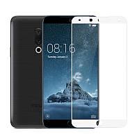 Защитное стекло Meizu 15 Plus 5.95'' Full cover белый 0,26мм в упаковке