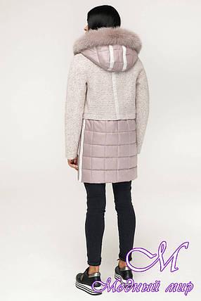Теплое зимнее пальто с мехом (р. 44-54) арт. 1069 Тон 111, фото 2
