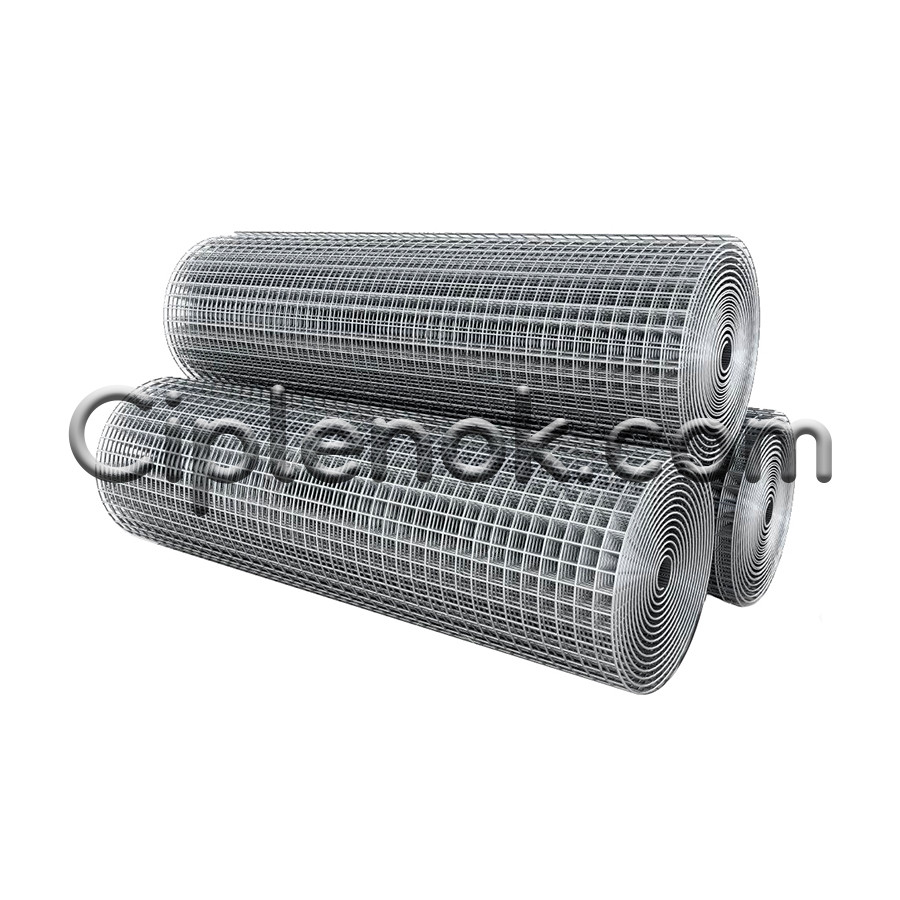 Сетка сварная оцинкованная 100/75/50х50 мм, Ø 1,8 мм, ш. 1,5 м, дл. 25 м