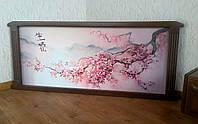 """Картина """"Ветка Сакуры - 2"""". Дерево - ольха, покрытие - лесной орех № 44."""