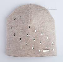 Симпатичная шапочка для девочек Саманта бежевого цвета