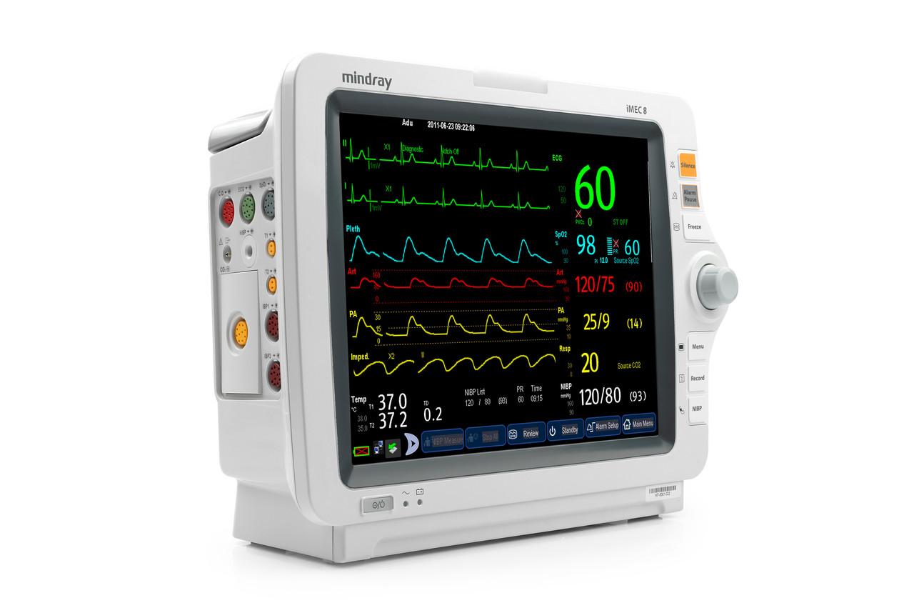 Монітор пацієнта iMEC8 укомпл.: TR MR401B, SpO2, NIBP Adu, cab. ECG-5 lead, IBP