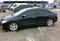 Дефлекторы окон (ветровики) HONDA Civic VIII Sd 2006/Ciimo Sd 2012