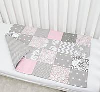 Одеяло Patchwork двухстороннее 60×90 «Веселые лисички»