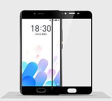 Защитное стекло Meizu E2 Full cover черный 0,26мм в упаковке