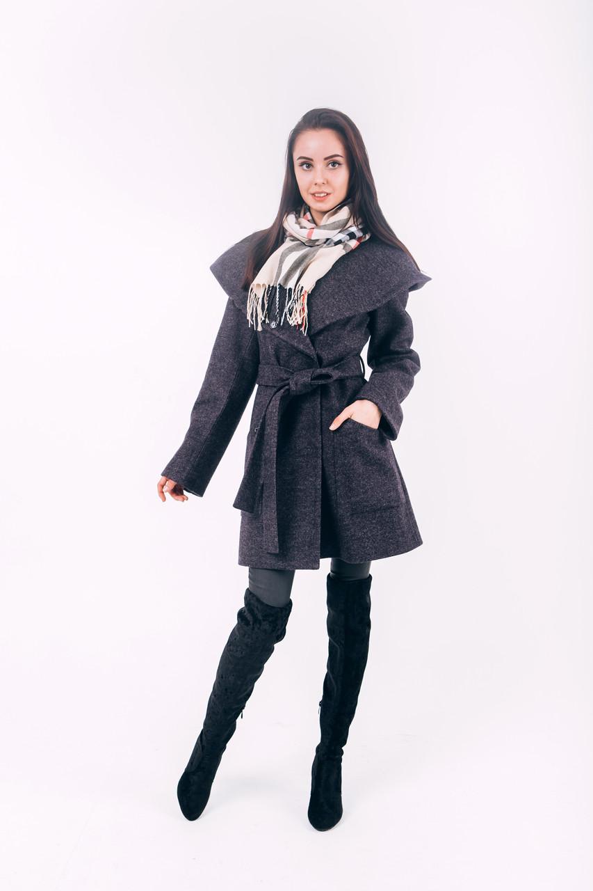 Пальто из шерсти короткое со скидкой Д 288