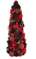 Декоративная елка из шишек и ягод 48 см (2 шт в упаковке)