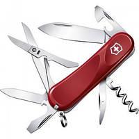 Нож Складной Мультитул Викторинокс Victorinox EVOLUTION S14 (85мм, 14 функций), красный 2.3903.SE