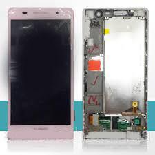 Дисплей с тачскрином Huawei P6-U06 Ascend розовый в рамке