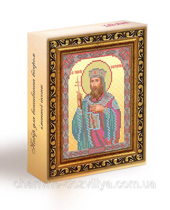 Набор для вышивания бисером икона Святой Константин