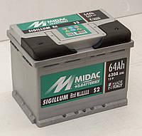 Аккумулятор 6СТ-64A MIDAC S2 Sigillum, 12V 64Ah, R