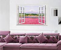 Распродажа - наклейка на стену Розовый цветок озера