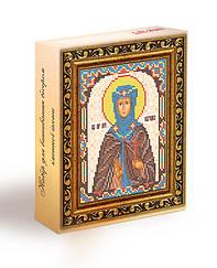 Набор для вышивания бисером икона Святая Евгения