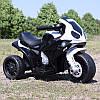 Детский мотоцикл BMW JT 5188 L-2: 6V, кожаное сиденье - ЧЕРНО-БЕЛЫЙ - купить оптом