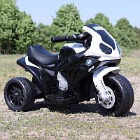 Детский мотоцикл BMW JT 5188 L-2: 6V, кожаное сиденье - ЧЕРНО-БЕЛЫЙ - купить оптом , фото 1
