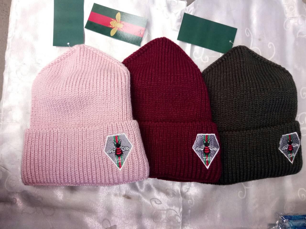 Женская зимняя шапка вязаная