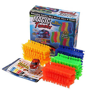 Гоночный трек Magic Glow Tracks With 220 PCS Tracks And Race Car (TE0001)