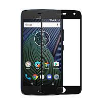 Защитное стекло Motorola Moto G5 Plus / XT1685 Full cover черный 0,26мм в упаковке