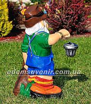 Садовая фигура Гном баварец с фонарем, фото 3