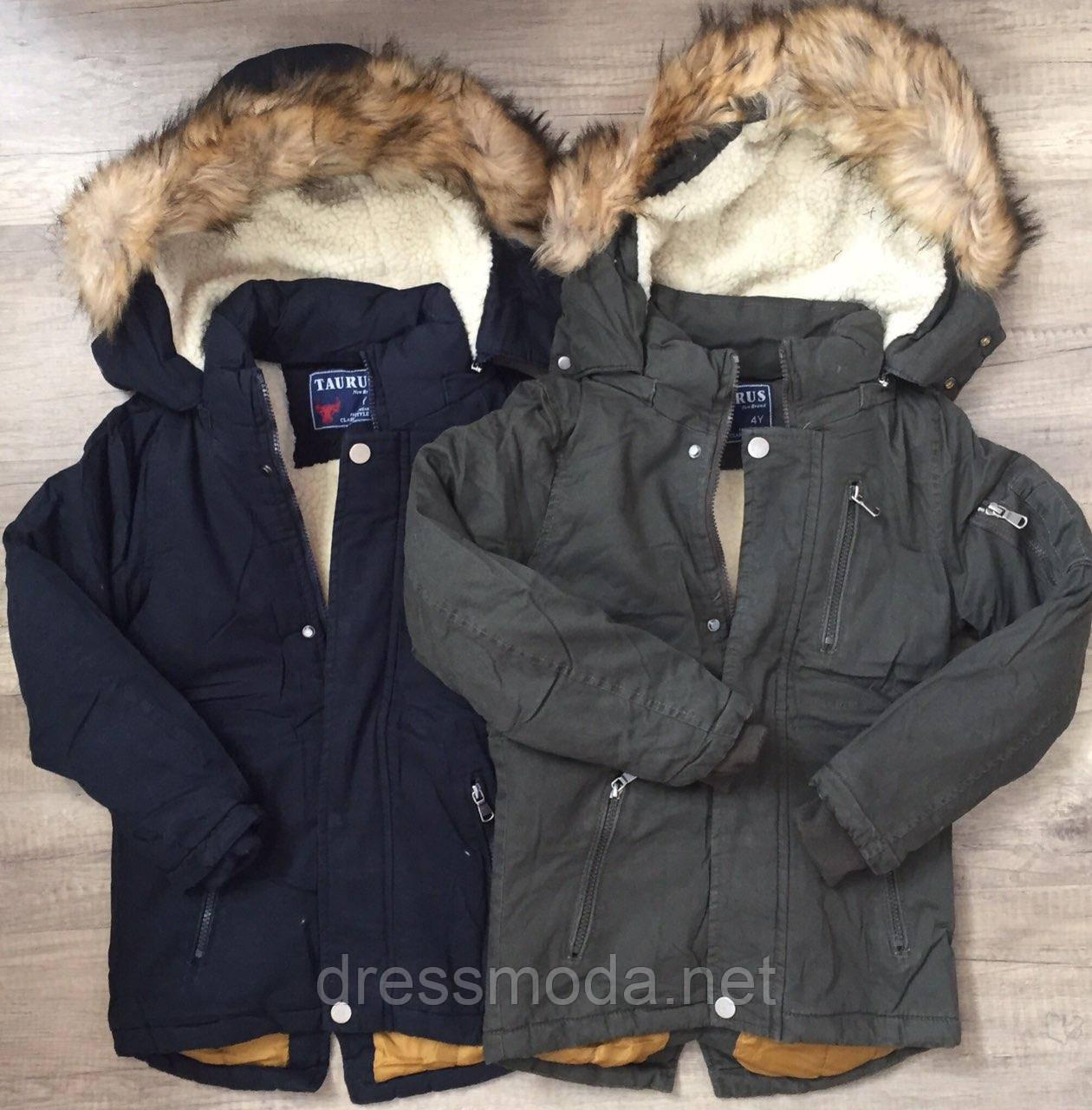 Куртка на меху для мальчиков Taurus 4-12 лет