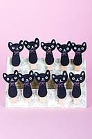 Набор прищепок Черный кот