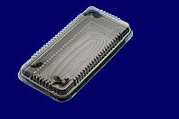 Упаковка для суши арт. 203Т/203В с коричневым и белым дном, фото 1