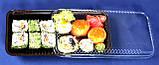 Упаковка для суши арт. 203Т/203В с коричневым и белым дном, фото 2