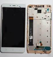 Дисплей с тачскрином Xiaomi Redmi Note 4 MediaTek белый в рамке