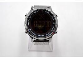 Умные смарт часы силиконовый ремешок металлическая оправа UWatch EX18 Metal