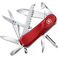 Нож Складной Мультитул Викторинокс Victorinox EVOLUTION 18 (85мм, 15 функций), красный 2.4913.E
