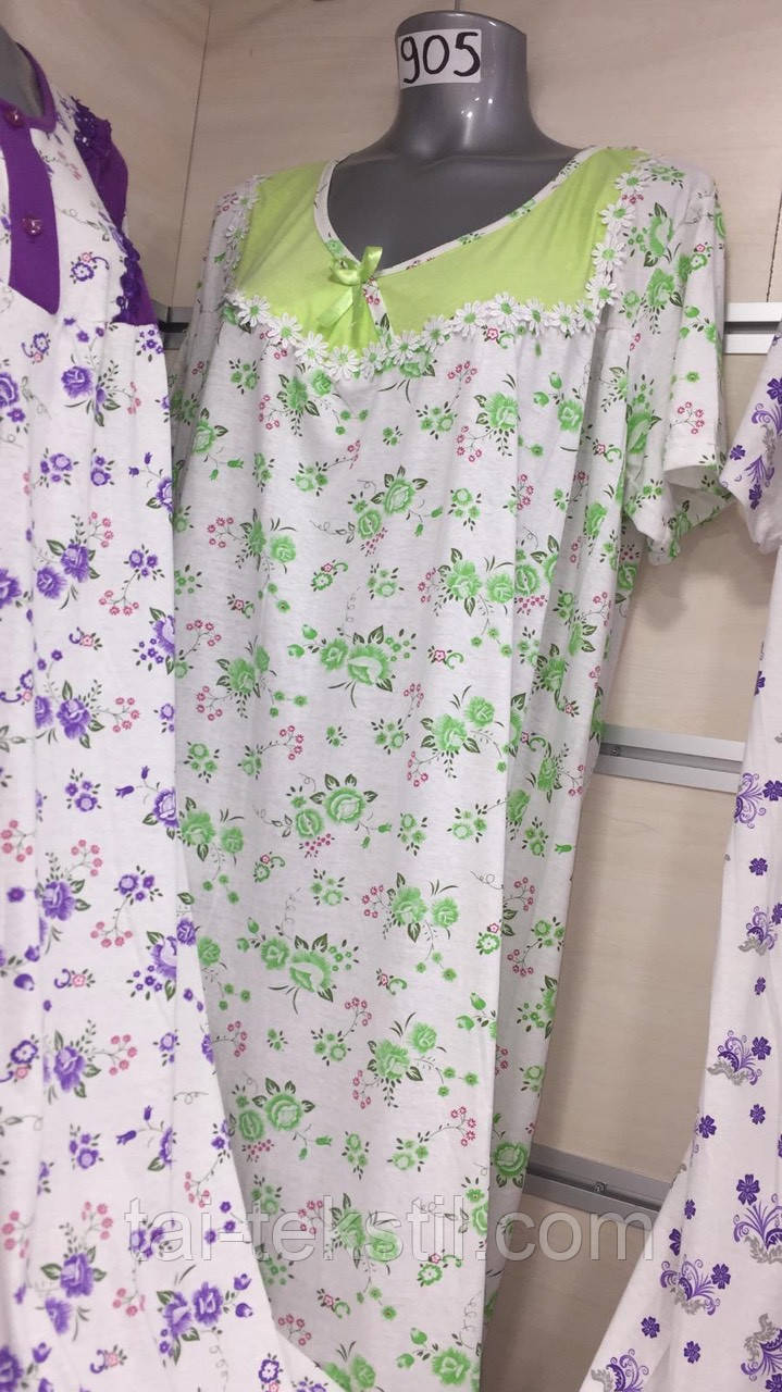 Leyla ночная рубашка больших размеров хлопок в разных цветах Турция (52-54р)