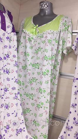Leyla ночная рубашка больших размеров хлопок в разных цветах Турция (52-54р), фото 2