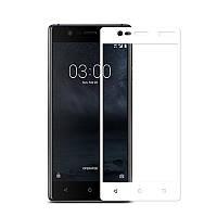 Защитное стекло Nokia 3 Full cover белый 0,26мм в упаковке