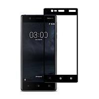 Защитное стекло Nokia 3 Full cover черный 0,26мм в упаковке