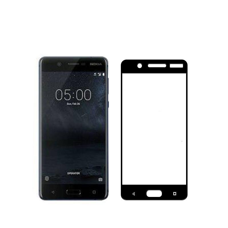 16d73140e1b6 Купить Защитное стекло Nokia 5 Full cover черный 0,26мм в упаковке в ...