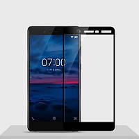 Защитное стекло Nokia 7 Plus Full cover черный 0,26мм в упаковке