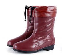 Стильные резиновые полусапожки под ботинки, фото 3