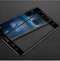 Защитное стекло Nokia 8 Full cover черный 0,26мм в упаковке