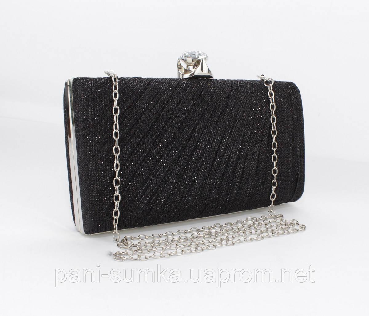 86842e34c105 Вечерний клатч Rose Heart 21570 черный, сумочка на цепочке: продажа ...