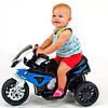 Детский мотоцикл BMW JT 5188 L-4: 6V, кожаное сиденье - СИНЕ-БЕЛЫЙ - купить оптом