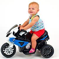 Детский мотоцикл BMW JT 5188 L-4: 6V, кожаное сиденье - СИНЕ-БЕЛЫЙ - купить оптом , фото 1