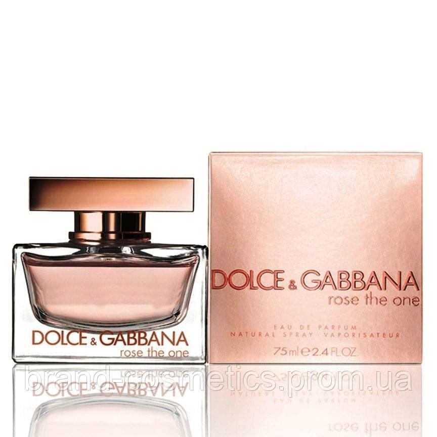 Женская парфюмированная вода Dolce Gabbana Rose The One Women 75 мл