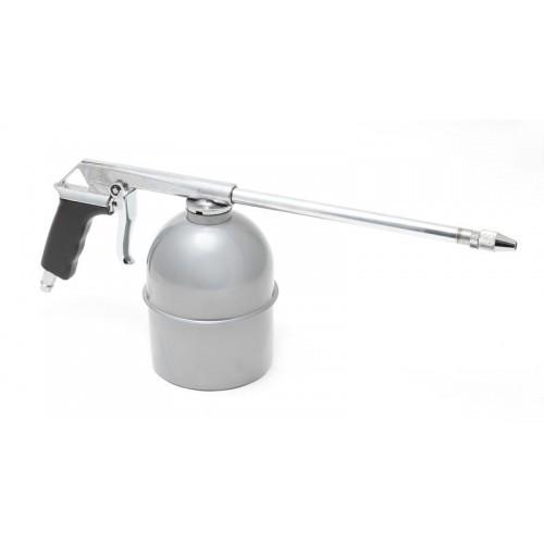 Пневмопистолет для мойки двигателя с бачком(расход воздуха 130 л/мин, емкость бачка 850мл)