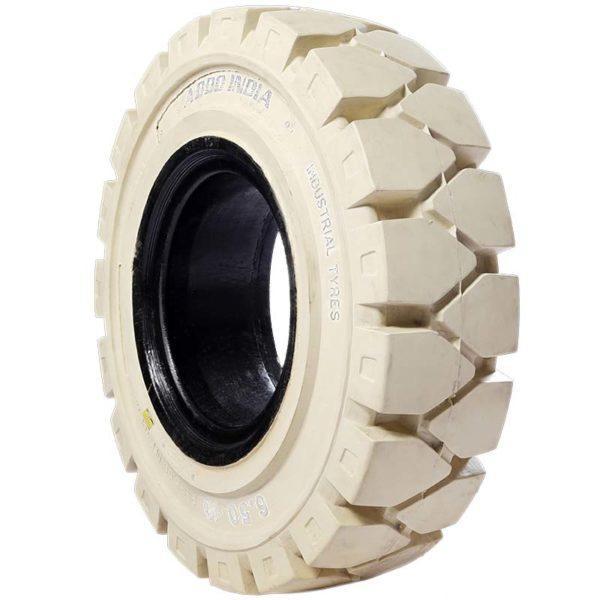 Цельнолитая шина ADDO INDIA 23x9-10 (225/75-10)* белые (Non-marking)
